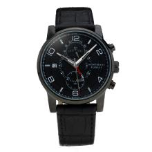 Montblanc Flyback Automatico Cassa PVD Con Cinturino Dial-Leather