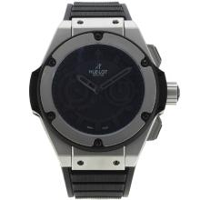Hublot King Power Chronograph Asia Valjoux 7750 Movimento Con Black Marcatori Dial-nero