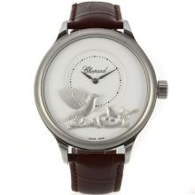 Chopard LUC Collection Automatico Con Quadrante Bianco-Leather Strap