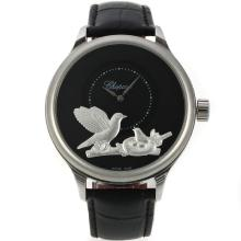 Chopard LUC Collection Automatico Con Quadrante Nero, Cinturino In Pelle