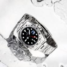 Rolex Explorer II GMT Automatico Con Quadrante Nero S / S-stessa Struttura Come ETA Version-High Quality (regalo Inclusa