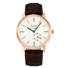 Piaget Altiplano Automantic Cassa In Oro Rosa Con Quadrante Bianco-Leather Strap