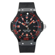 Hublot Big Bang Re Asia Valjoux 7750 Movimento Cassa In PVD Nero Con Marcatori Dial-Red