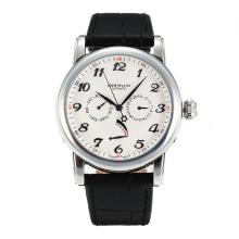 Montblanc Star Power Reserve Automatic Con White Strap Dial-Leather
