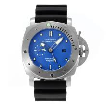 Panerai Luminor Sommergibile GMT Automatico Con Blue Dial-cinturino In Caucciù Nero