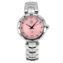Tag Heuer Link Bezel Romano Con I Pink Dial S / S