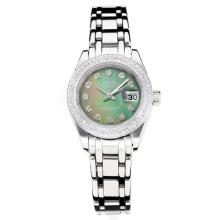 Rolex Masterpiece Automatico Diamond Bezel Con Dark Green MOP Dial S / S-Stesso Telaio, Come ETA Version