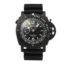 Panerai Luminor Submersible Automatic PVD Completa Con Quadrante Nero, Cinturino In Caucciù Nero