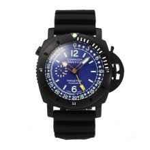 Panerai Luminor Submersible Automatic PVD Completa Con Blue Dial-cinturino In Caucciù Nero