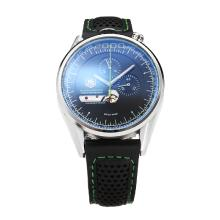 Tag Heuer Mikrogirder 2000 Con Quadrante Nero-Leather Strap Ago-Green