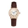 Cartier Classic Cassa In Oro Rosa Con Quadrante Bianco-Leather Strap
