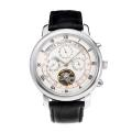 Patek Philippe Tourbillon Automatico Con Quadrante Bianco-Leather Strap