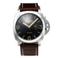 Panerai Luminor 8 Giorni Unitas 6497 Movimento A Collo Di Cigno Con Black Strap Dial-Leather
