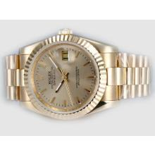 Rolex Datejust In Oro Automatico Completo Con Golden Dial (Gift Box è Incluso)