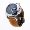 Panerai Luminor Marina Automatic GMT Con Blue Dial-Leather Strap-Marcatori Luminous
