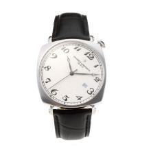 Vacheron Constantin Svizzero ETA 2824 Movimento Con Quadrante Bianco-Leather Strap
