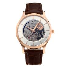 Chopard LUC Cassa In Oro Rosa Con Quadrante Bianco-Leather Strap