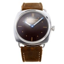 Panerai Radiomir Unitas 6497 Movimento Con Brown Dial-Leather Strap-Marcatori Stick