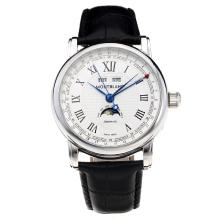 Montblanc Classic Automatic Con White Strap Dial-Leather