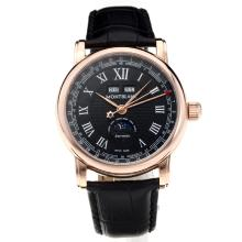 Cassa In Oro Montblanc Classic Automatic Rose Con Cinturino Dial-Leather