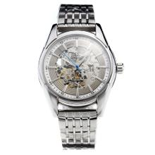 Omega Hour Vision Automatico Con Skeleton Dial S / S