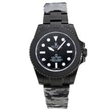 Rolex Submariner Pro-Hunter Automatic PVD Completa Con Quadrante Nero-Stesso Telaio Come ETA Version