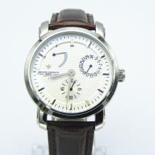 Vacheron Constantin Lavorare Power Reserve Automatico Con Quadrante Bianco-Leather Strap