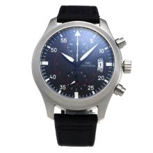 IWC Pilot Top Gun Working Chronograph with Black Dial-Nylon Strap