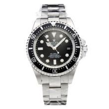 Rolex Sea-Dweller Deepsea Automatic with Black Dial S/S(Gift Box is Included)