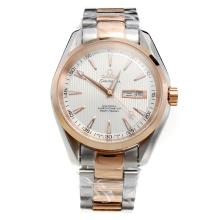 Omega Seamaster Automatic Two Tone with White Dial