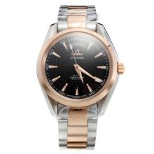 Omega Seamaster Automatic Two Tone with Black Dial