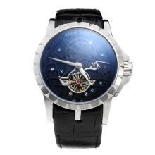 Roger Dubuis Excalibur Tourbillon Automatic with Black Dial-Leather Strap-1