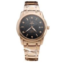 Omega Constellation Automatic Full Rose Gold with Black Dial