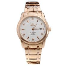 Omega Constellation Automatic Full Rose Gold with White Dial