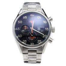 Tag Heuer Carrera Cal.1887 Working Chronograph with Black Dial S/S-Orange Hand