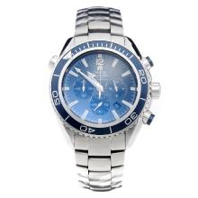 Omega Seamaster Working Chronograph with Blue Dial S/S-1