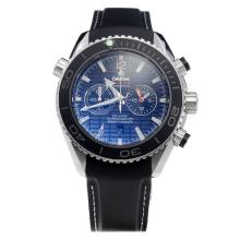 Omega Seamaster James Bond 007 Working Chronograph with Black Dial-Rubber Strap