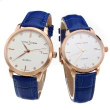 Ulysse Nardin Rose Gold Case Diamond Markers with White Dial-Blue Leather Strap