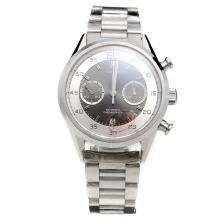 Tag Heuer Carrera Calibre 36 Chronograph Swiss Valjoux 7750 Movement with Gray Dial S/S
