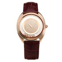 Chopard Happy Sport Rose Gold Case with MOP Dial-Leather Strap