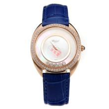 Chopard Happy Sport Rose Gold Case Diamond Bezel with MOP Dial-Leather Strap-1