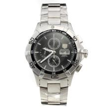 Tag Heuer Aquaracer Working Chronograph with Black Dial S/S