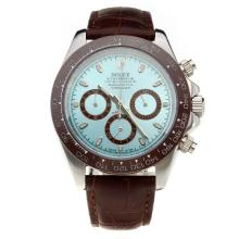 Rolex Daytona II Working Chronograph Ceramic Bezel with Blue Dial-Leather Strap