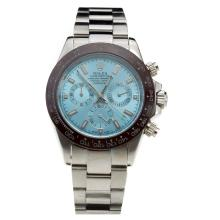 Rolex Daytona Working Chronograph Ceramic Bezel with Blue Dial S/S