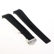 Tag Heuer Black Rubber Strap with Deployment Buckle