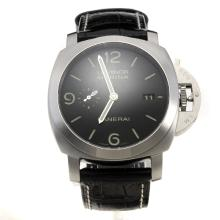 Panerai Luminor Marina Swiss Valjoux 7750 Movement with Black Dial-Leather Strap-3