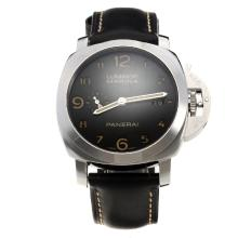 Panerai Luminor Marina Swiss Valjoux 7750 Movement with Black Dial-Leather Strap-2