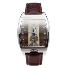 Corum Golden Bridge Manual Winding With Brown Dial and Brown Leather Strap