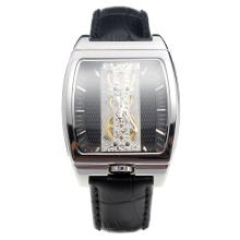 Corum Golden Bridge Manual Winding With Black Dial and Leather Strap