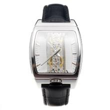 Corum Golden Bridge Manual Winding With White Dial and Black Leather Strap